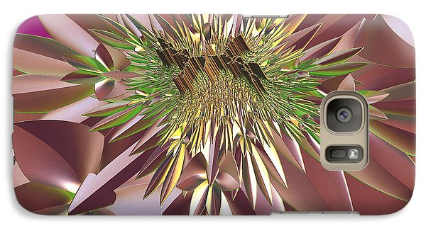 Galaxy Case featuring the digital art Pink Flowers by Melissa Messick