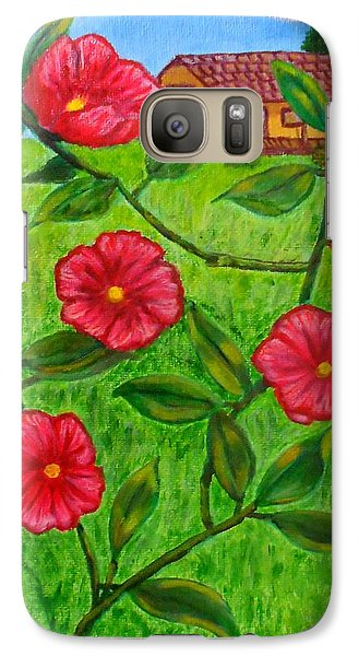 Galaxy Case featuring the painting Pink Flowers by Sheri Keith
