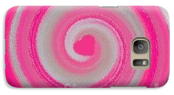 Galaxy Case featuring the digital art Pink Fluff by Catherine Lott