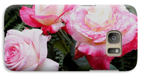 Galaxy Case featuring the photograph Pink Garden Roses by James C Thomas