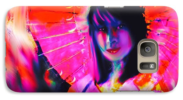Galaxy Case featuring the digital art Pink Giesha by Diana Riukas