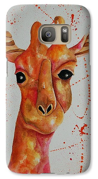 Galaxy Case featuring the painting Pink Giraffe  by Tamyra Crossley