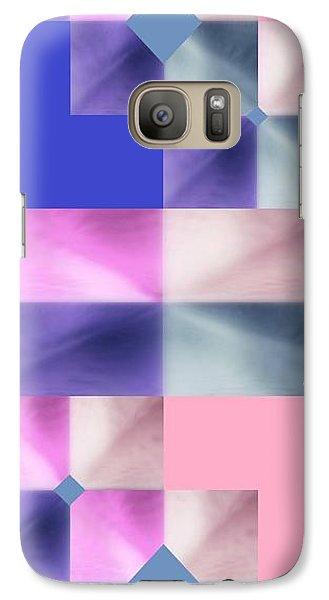Galaxy Case featuring the digital art Pink Glow 2 by Ann Calvo