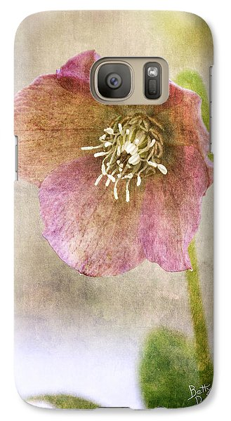 Galaxy Case featuring the photograph Pink Hellebore by Betty Denise