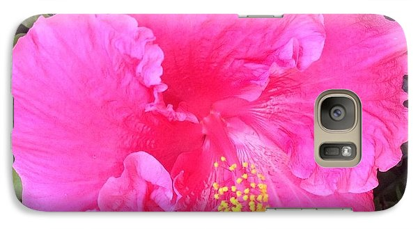 Galaxy Case featuring the photograph Pink Hibiscus by Alohi Fujimoto