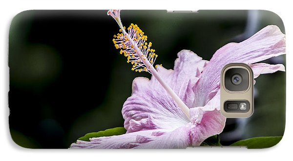 Galaxy Case featuring the digital art Pink Hibiscus Flower by Photographic Art by Russel Ray Photos