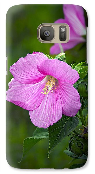 Galaxy Case featuring the photograph Pink Hibiscus by Judy  Johnson