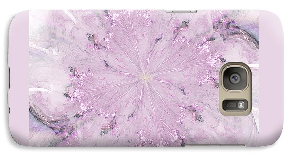 Galaxy Case featuring the digital art Pink Hibiscus by Victoria Harrington