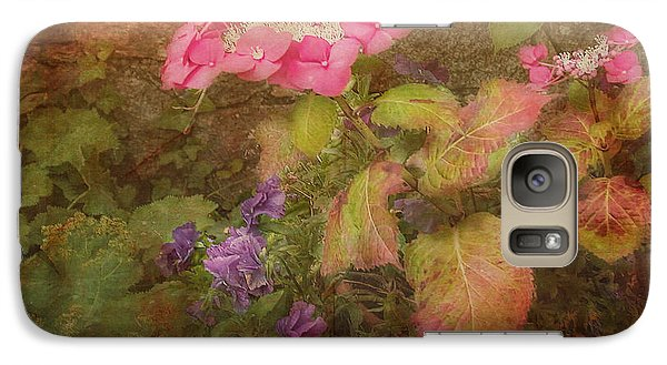 Pink Hydrangea And Purple Pansies Galaxy S7 Case