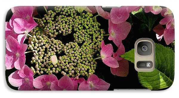 Galaxy Case featuring the photograph Pink Hydrangea by James C Thomas
