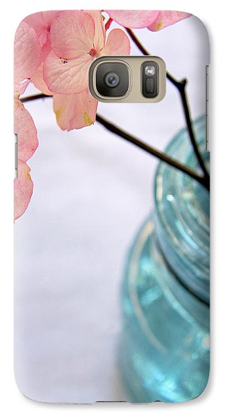 Galaxy Case featuring the photograph Pink Hydrangea No. 1 by Brooke T Ryan