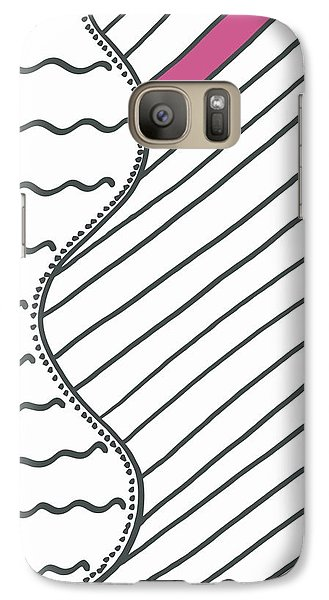 Galaxy Case featuring the drawing Pink by Jill Lenzmeier