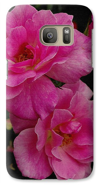Galaxy Case featuring the photograph Pink Knock Outs by James C Thomas