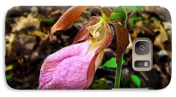 Galaxy Case featuring the photograph Pink Ladyslipper Orchid by William Tanneberger