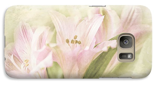 Galaxy Case featuring the painting Pink Lilies by Linda Blair
