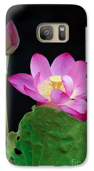 Galaxy Case featuring the photograph Pink Lotus Flowers by Eva Kaufman