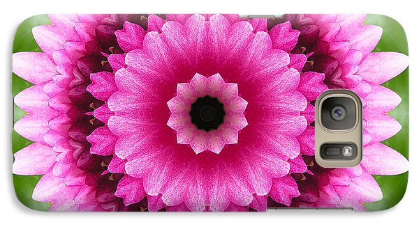 Galaxy Case featuring the photograph Pink Lotus Kaleidoscope by Betty Denise