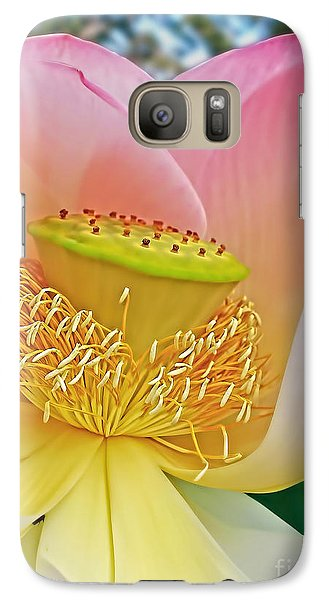 Pink Lotus Lily Galaxy S7 Case by Kaye Menner