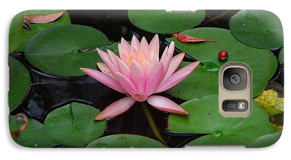 Galaxy Case featuring the photograph Pink Lotus Love 2 by Ankya Klay