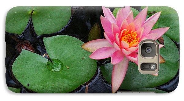 Galaxy Case featuring the photograph Pink Lotus Love by Ankya Klay