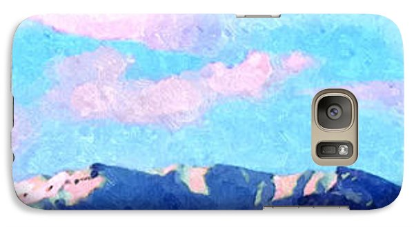 Galaxy Case featuring the painting Blue Mountains by Ze  Di