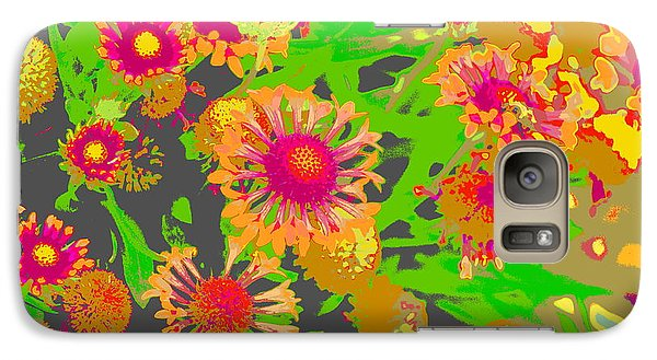Galaxy Case featuring the photograph Pink Orange Flowers by Suzanne Powers