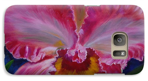 Galaxy Case featuring the painting Pink Orchid by Jenny Lee