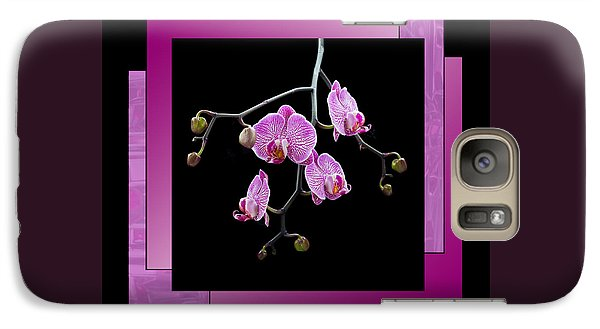 Galaxy Case featuring the photograph Framed Orchid Spray by Patti Deters