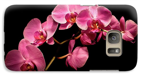 Pink Orchids 3 Galaxy S7 Case by  Onyonet  Photo Studios