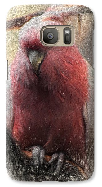 Galaxy Case featuring the photograph Pink Painted Parrot by Terry Cork