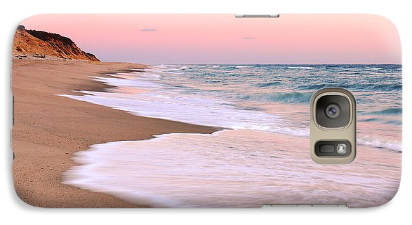 Galaxy Case featuring the photograph Pink Pastel Beach And Sky by Roupen  Baker
