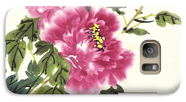 Galaxy Case featuring the painting Pink Peonies by Yolanda Koh