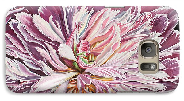 Galaxy Case featuring the painting Pink Peony by Jane Girardot