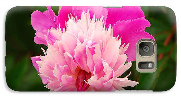 Galaxy Case featuring the photograph Pink Peony by Mary Carol Story