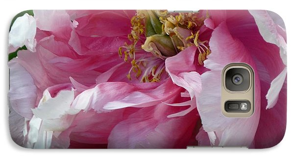 Galaxy Case featuring the photograph Pink Peony Open Wide by Jeanette Oberholtzer