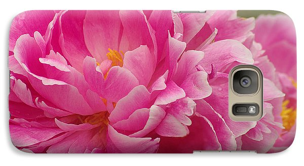 Galaxy Case featuring the photograph Pink Peony by Suzanne Powers