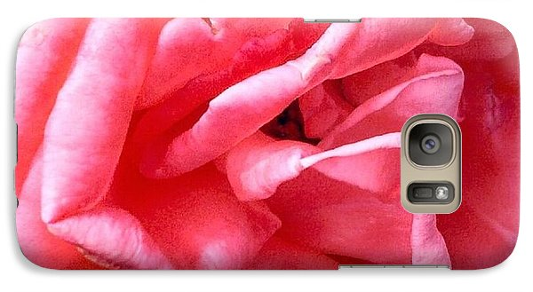Galaxy Case featuring the photograph Pink Petals Up Close Rose Art Photo by Marianne Dow