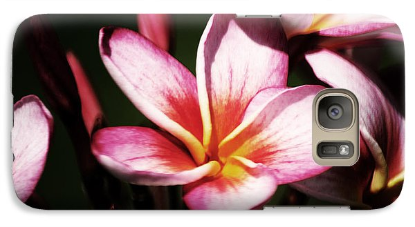 Galaxy Case featuring the photograph Pink Plumeria by Angela DeFrias