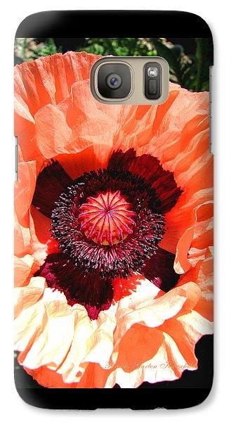 Galaxy Case featuring the photograph Peach Poppy Perfection by Brooks Garten Hauschild