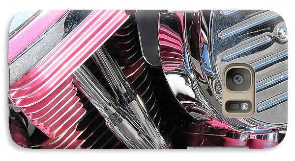 Galaxy Case featuring the photograph Pink Power by Samuel Sheats