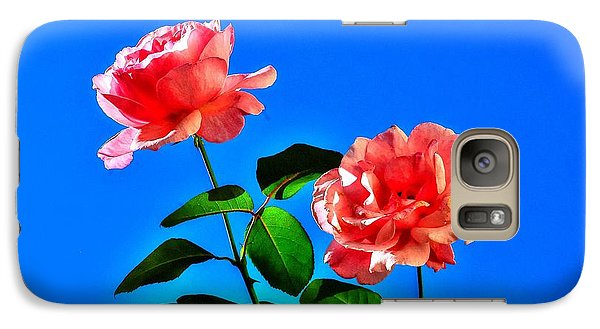 Galaxy Case featuring the photograph Pink Rose by Ed Roberts