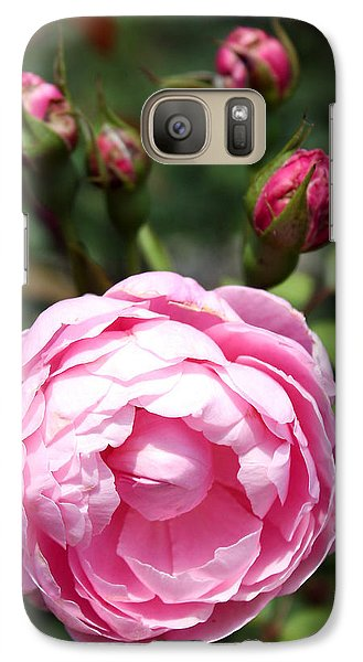 Galaxy Case featuring the photograph Pink Rose by Ellen Tully