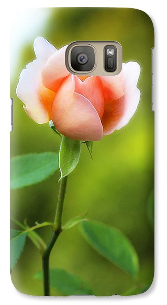 Galaxy Case featuring the photograph Pink Rose by Jim Poulos