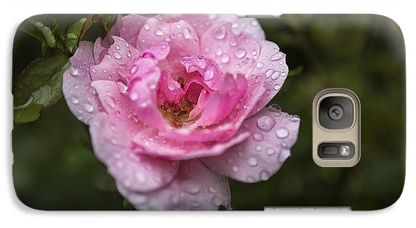 Pink Rose With Raindrops Galaxy S7 Case