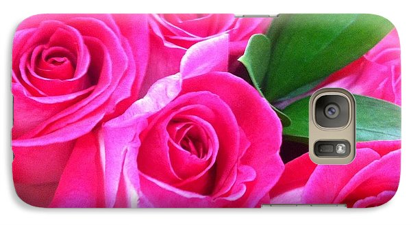 Galaxy Case featuring the photograph Pink Roses by Alohi Fujimoto