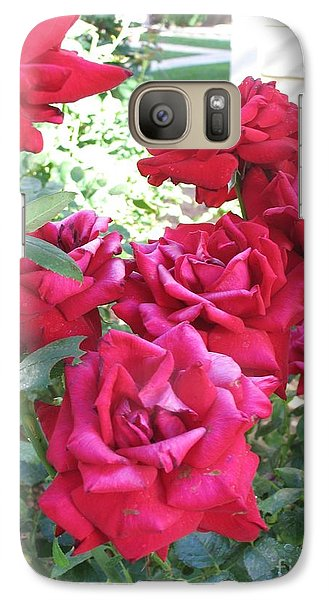 Galaxy Case featuring the photograph Pink Roses by Chrisann Ellis