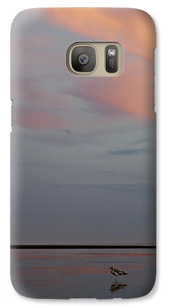 Galaxy Case featuring the photograph Pink Sky And Sand by Kjirsten Collier