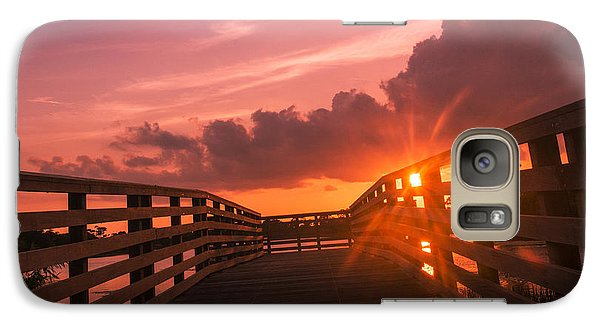 Galaxy Case featuring the photograph Pink Sky Sunset by Don Durfee