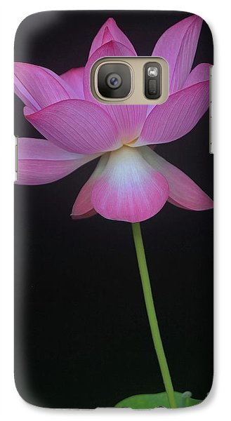 Galaxy Case featuring the photograph Pink Spaces Lotus by Dodie Ulery