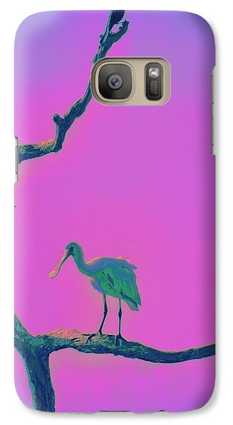 Galaxy Case featuring the painting Pink Spoonbill by David Mckinney
